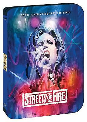 PREORDER - STREETS OF FIRE anniversary steelbook  - Region A - BLU RAY - Sealed
