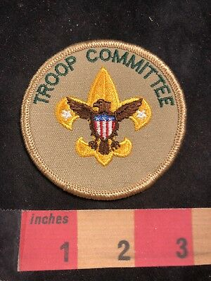 Vtg TROOP COMMITTEE BSA Boy Scouts Position Patch 89V1