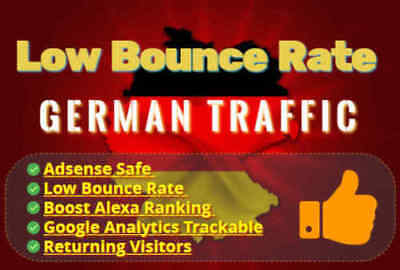 40.000 Visitors from Germany - Low Bounce Rate Traffic
