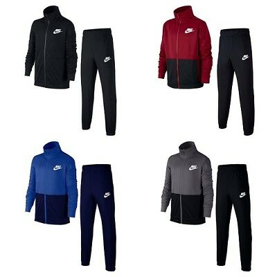 Nike Boys Tracksuit Full Zip Kids Junior Sports Training Jogging Bottoms Jacket