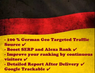 5000+ Visitors From Germany - Web Traffic Website Visitors