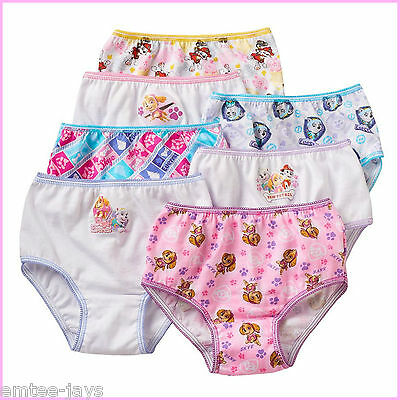 Paw Patrol Undies Girls Underwear x 7 Skye, Marshall & Everest Girls Knickers