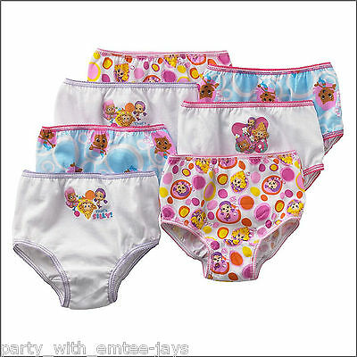 Bubble Guppies Undies x 7 - Girl's Underwear/Briefs - Nickelodeon Authentic New