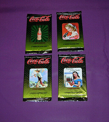 Coca-Cola Collectors Cards 4 Unopened Packages Series 4 Lot A