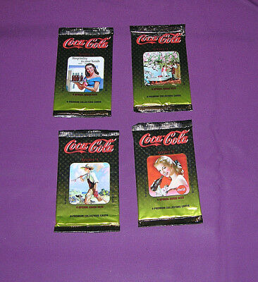 Coca-Cola Collectors Cards 4 Unopened Packages Series 4 Lot G