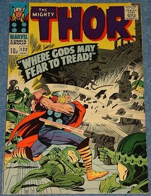 MIGHTY THOR  # 132 (1966) - 1st app Ego the Living Planet! Silver Age Classic!