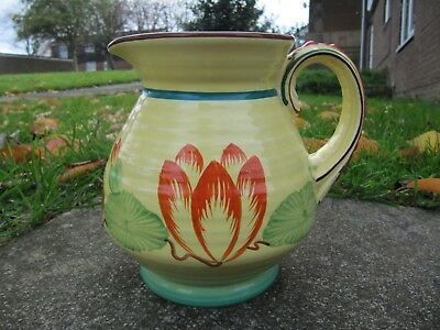 Crown Ducal Art Deco Pottery Water Lily Jug