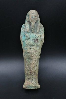 Fine Antique Egyptian Faience Ushabti (Shabti) Statue Figure of Ancient Egyptian