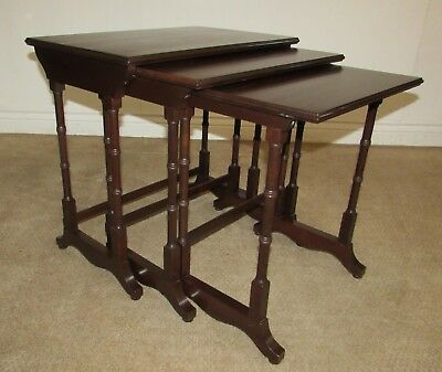 Ethan Allen Georgian Court Cherry Nesting Tables, Nest Of 3, End Table (B)