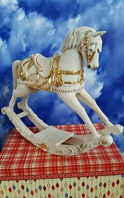 Small, Resin, Unfinished Rocking Horse