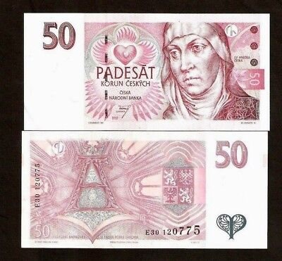 Czech Republic 50 Korun P17 1997 European Money Bill 1 Piece Bank Note