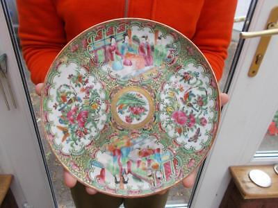 Superb Antique Chinese Porcelain Plate Famille Rose Lovely Cond Circa 1900
