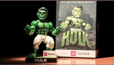 10/21 2018 NEW YORK JETS INCREDIBLE HULK Banner Bobblehead MARVEL SGA  NFL Rare