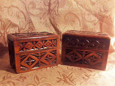 Arts and crafts playing card and counter boxes c1890