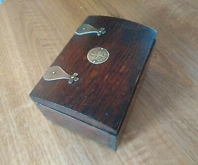 A Nice Wooden Festival Of Britain Vintage Wooden Box
