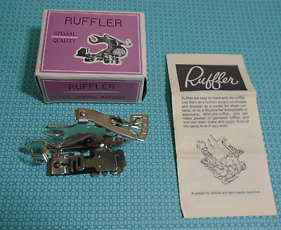Low Shank  Ruffler Foot / Attachment with instructions
