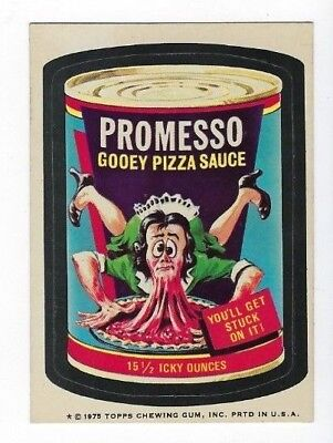 1975 Wacky Packages 14th Series 14 PROMESSO PIZZA SAUCE wb nm o/c