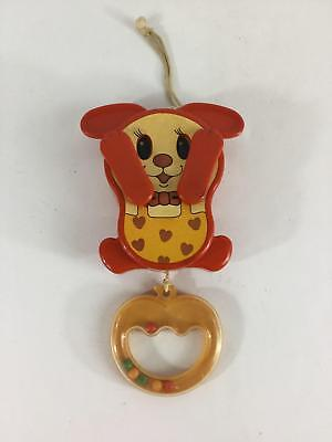 Vintage Musical Infant Crib Toy Sankyo Frere Jacques 1970's Pull String Preserve