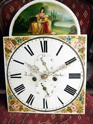 Super longcase/grandfather clock  8 day movement and dial,Tinkler of Stanhope GW