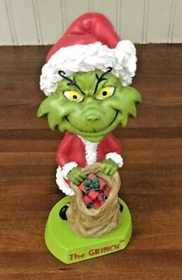 2002 DR. SEUSS HOW THE GRINCH STOLE CHRISTMAS Bobblehead Figure, In Box