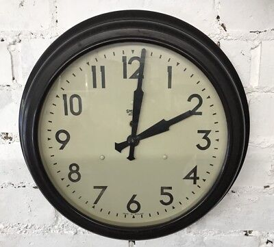 Art Deco 1930's SMITHS Sectric BAKELITE FACTORY SCHOOL WALL CLOCK