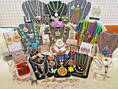 Massive Estate Vtg Modern 96 Pc Jewelry Lot + High End Costume + Designer Lb D18