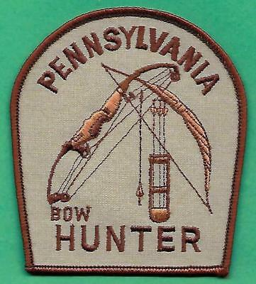 Pa Fish Game Commissionn New RARE Pennsylvania Bow Hunter Patch