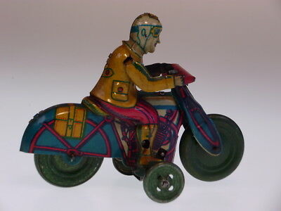 "GSMOTO ""MOTORCYCLE CIVIL DRIVER"" RICO 1950, 10cm, WUP OK, SEHR GUT/VERY GOOD !"