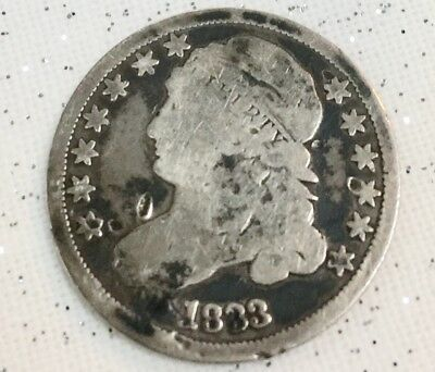 1833 Capped Bust Dime 10c 90% Silver * grading Good Our Opinion *