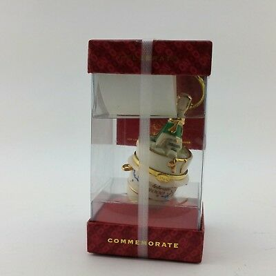 Lenox Commemorate 2000 Ornament Korbel Champagne Bucket Time Capsule Hinged