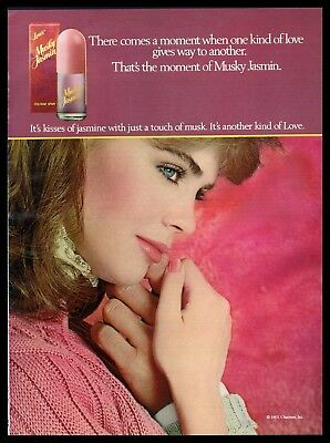 1984 Loves Musky Jasmin Cologne Spray Beautiful Woman Photo print ad (ADS2)