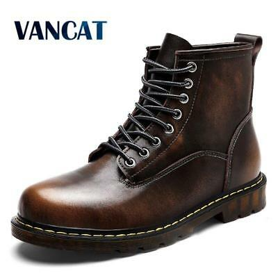 Vancat High Quality Genuine leather Autumn Men Boots Winter Waterproof Ankle Boo