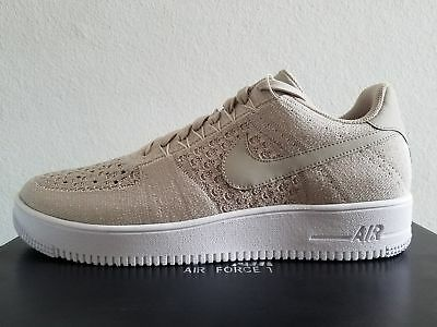 buy popular 166a3 7ee8f NIKE AF1 AIR Force Ultra Flyknit Low Size 10.5 String White Tan Sail 817419  200