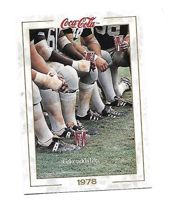 Coca Cola Collection (1993)  1978 # 81 Coke Adds Life Tired Football Players
