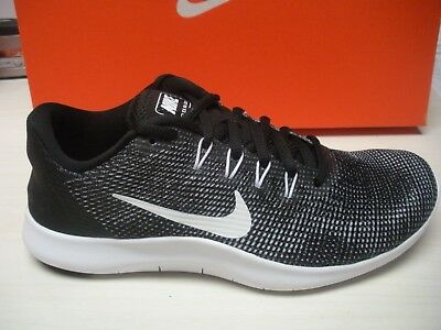 competitive price dabce 49fc5 NIKE WOMENS FLEX 2018 Rn Running Shoes -Sneakers- Aa7408-001- Black / White