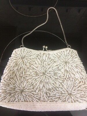 Vintage Beaded Sequin Purse. , Handbag , 50s 60s ,Pinup , Rockabilly, Retro