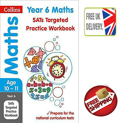 Year 6 Maths SATs Targeted Practice Workbook: by Collins KS2 New Paperback Book