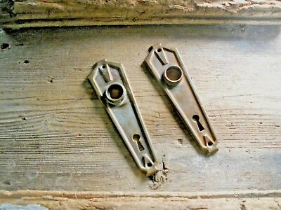 Vtg Art Deco Rustic Antique Skeleton Door Knob Back Plates Art/craft Pinterest