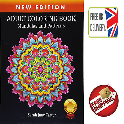 Adult Colouring Books Mandalas And Patterns Relaxing Color Therapy Stress Relief