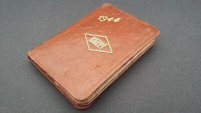 "1944 (WW2) ""Hillman & Dudley"" leather makers diary, with some personalisation."