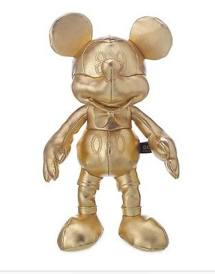 Small Mickey Mouse Gold Plush 90th Birthday Disney Store Limited Edition