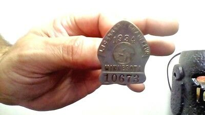 Vintage Chauffeur 1934 Minn. Badge Made In St. Paul