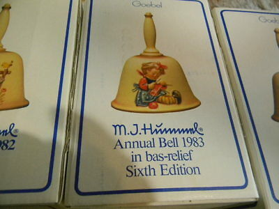 GOEBEL M. I. HUMMEL 1983 BELL Knit one Pearl one 6th Edition EC in box 705