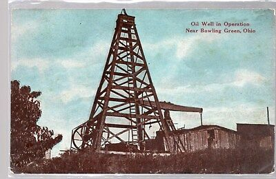 Bowling Green, Ohio, Postcard, Oil Well In Operation, Near Bowling Green