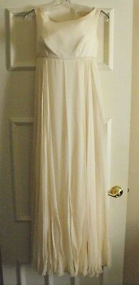 Vintage Cahill Beverly Hills Champagne Ball Gown Princess Wedding Silk Chiffon S