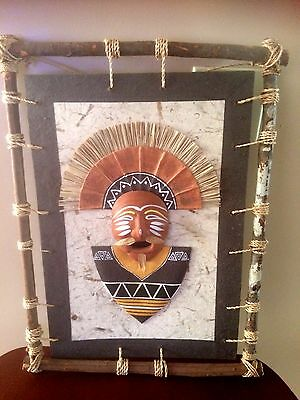 Asian Native Painting w/ Handcrafted Stick Frame