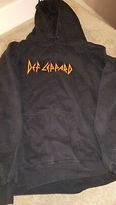 Def Leppard tour Sweatshirt shirt rare Hoodie Embroidered Large