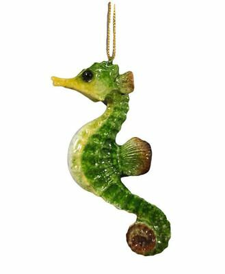 December Diamonds SEAHORSE CHRISTMAS ORNAMENT Hanging Sea Life Figurine 4.5""