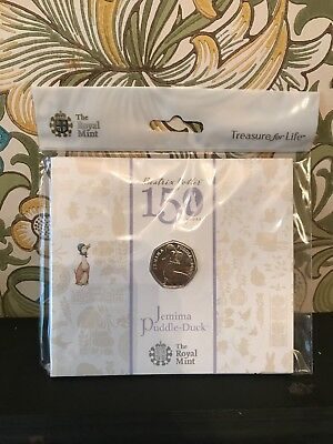 2016 jemima puddle duck BU 50p coin - Beatrix Potter 150th anniversary *