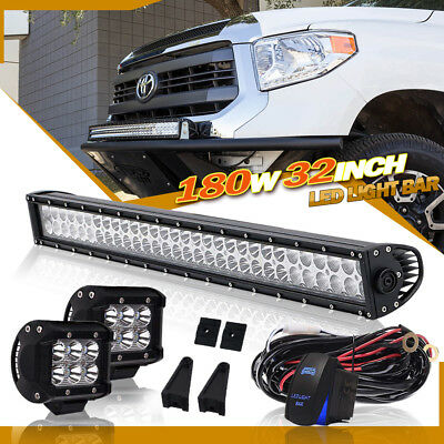 32 inch 180W LED Light Bar For Driving Off Road Truck Ford Jeep SUV ATV 4WD 30